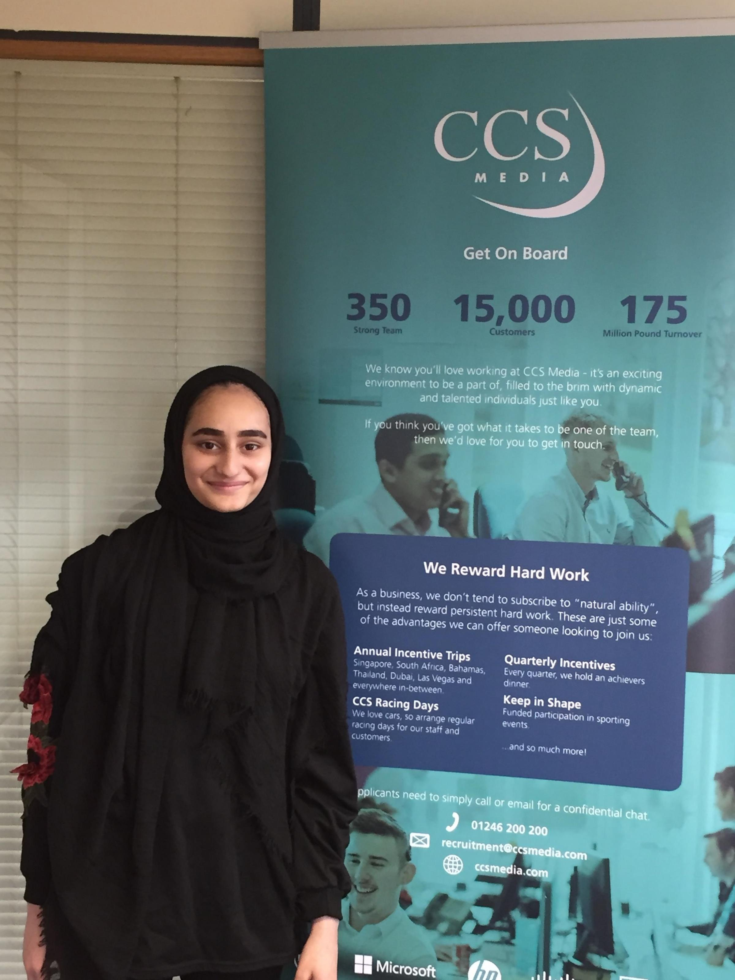 Saffiya Syeed, who has been shortlisted for an award at the Asian Apprenticeship Awards