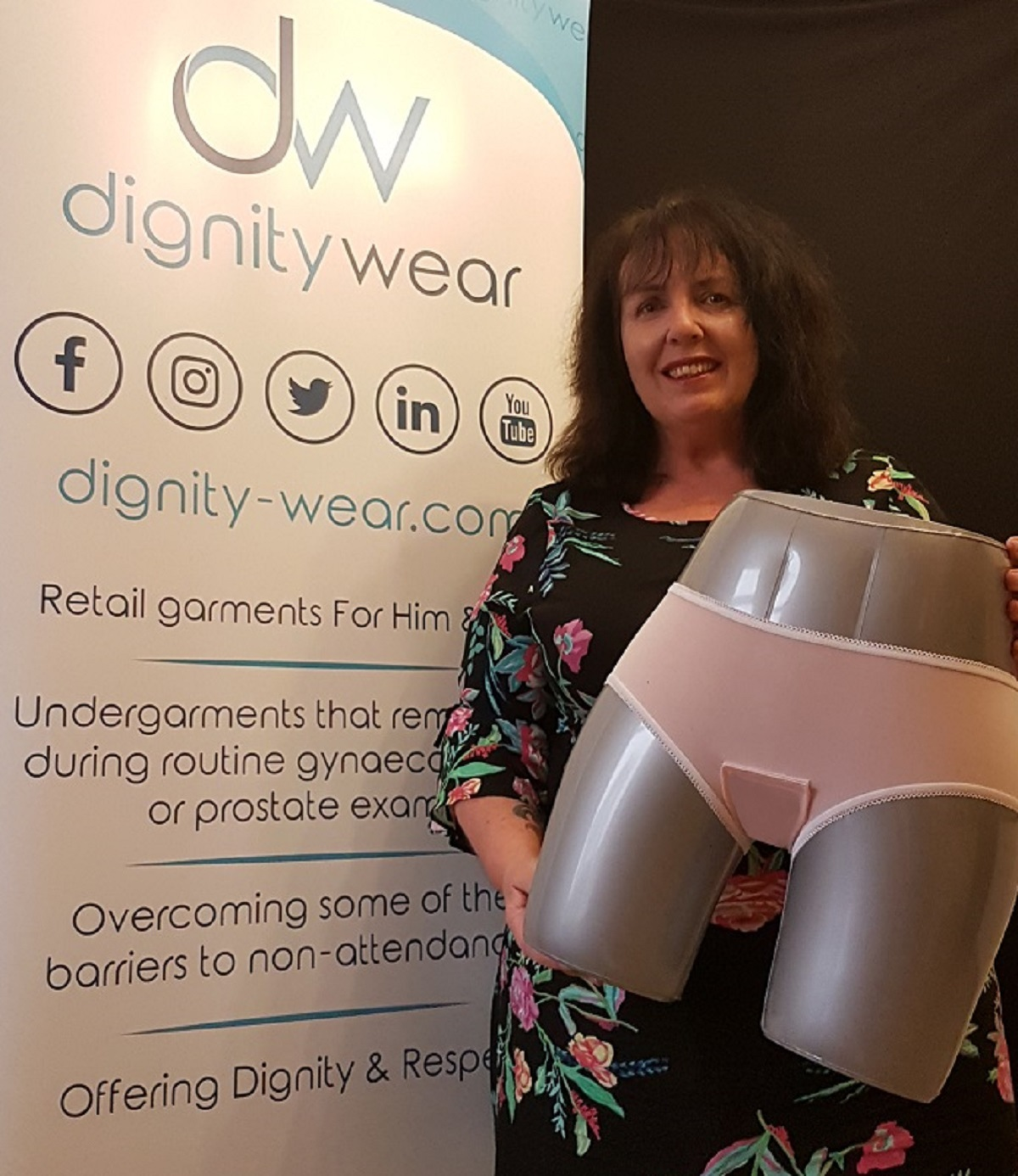 Sally Benson, owner of Dignity Wear, which has just launched its first range of underwear