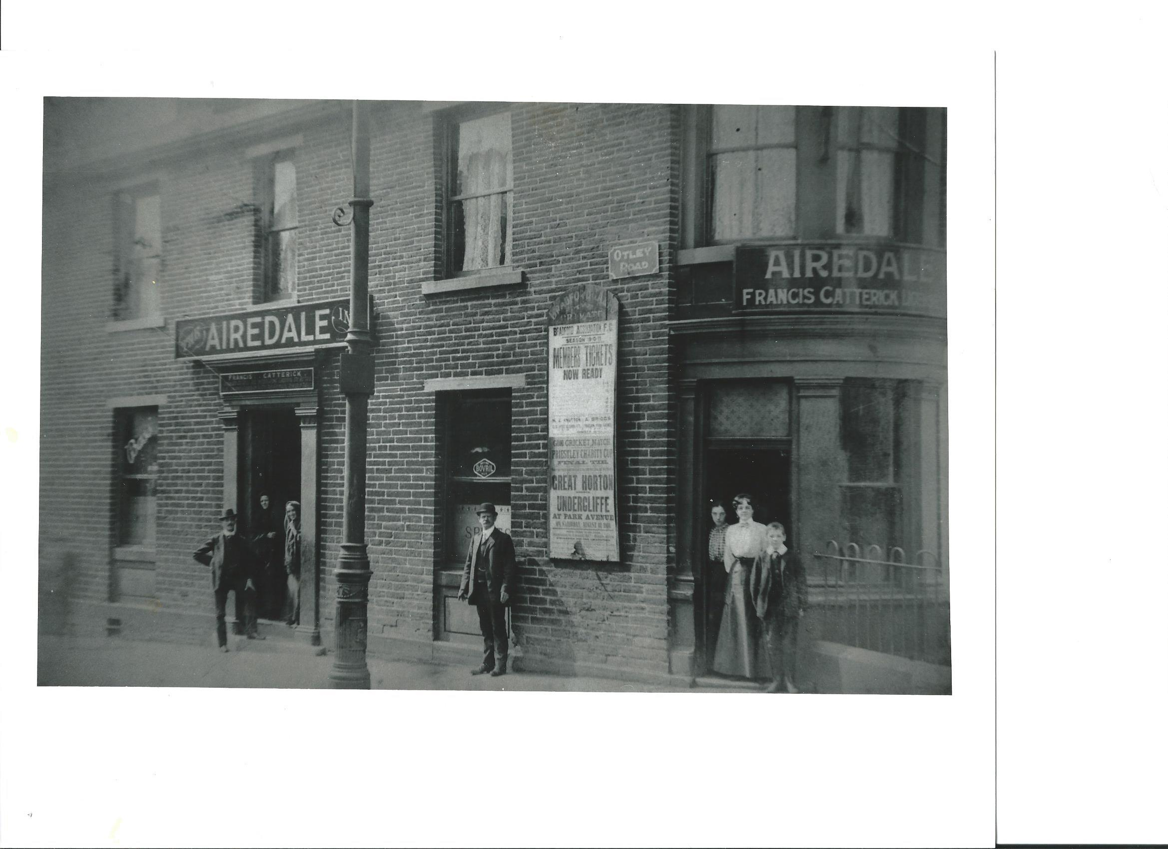 The Airedale pub, taken in 1910. Picture: Paul Jennings