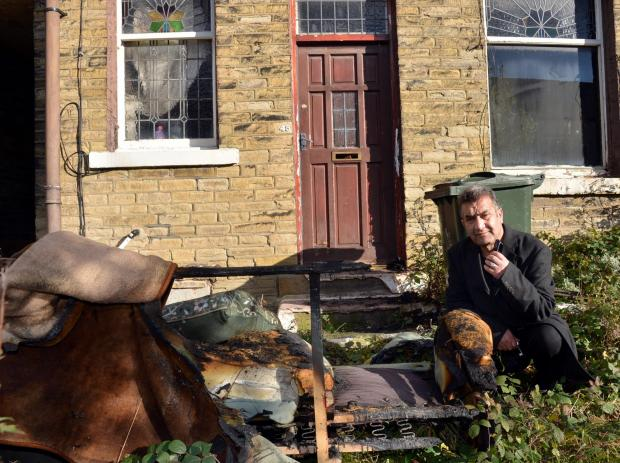 Bradford Telegraph and Argus: MISERY: Saeed Rehman says he has lost everything after the attack on his Undercliffe home