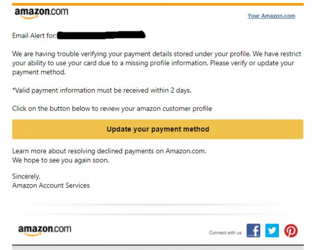 Don't be caught out by this clever-looking FAKE Amazon email