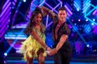 Alexandra Burke and her dance partner Gorka Marquez (Guy Levy/BBC)