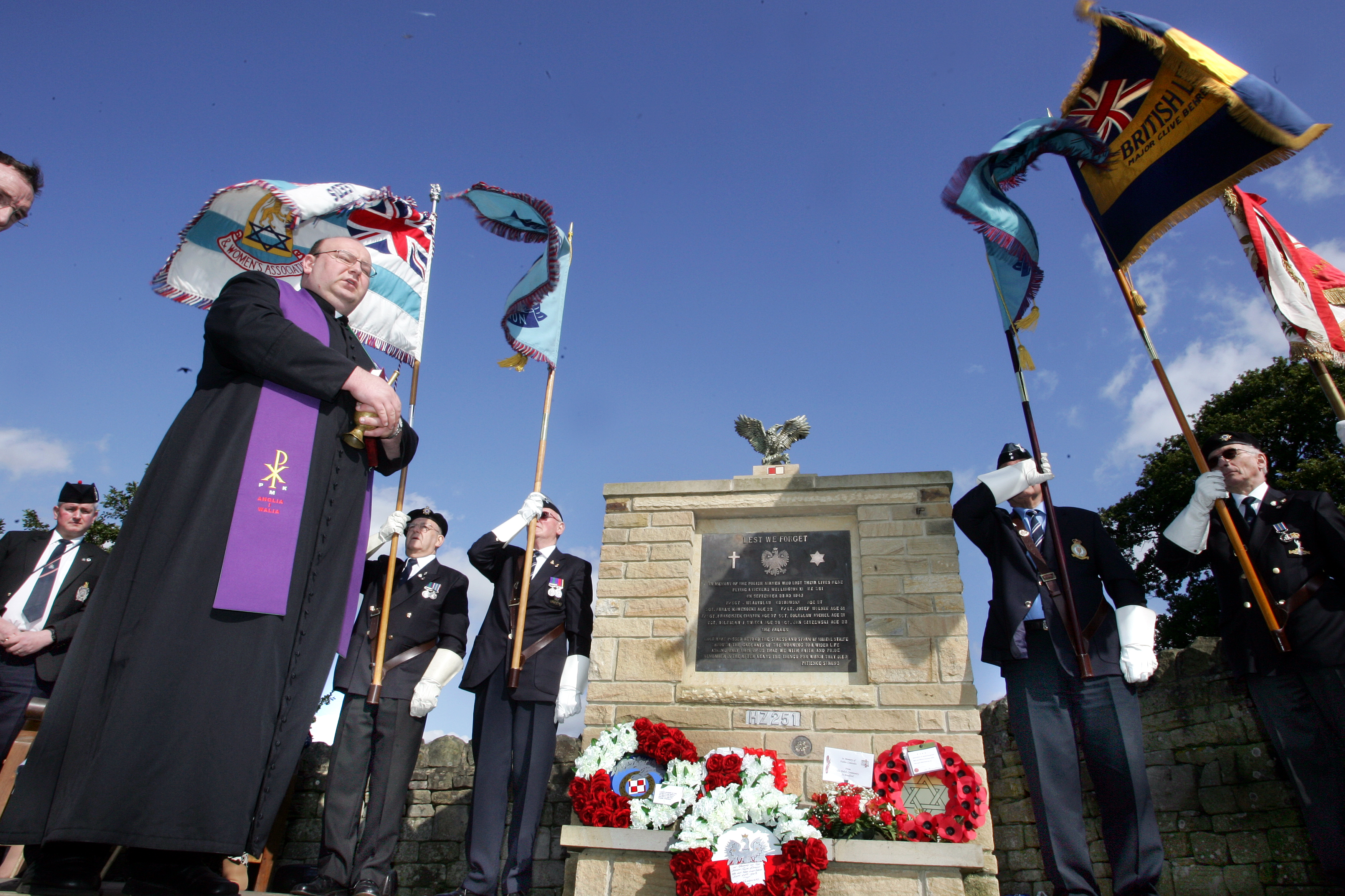 The unveiling of the memorial near Skipton