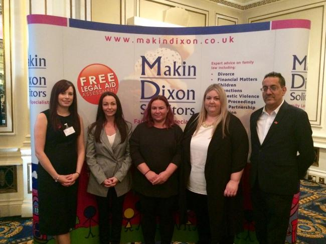 A conference on child sexual exploitation, organised by Makin Dixon Solicitors, took place in Bradford. Pictured are: (l-r) Makin Dixon partner Jennifer Noel; Sammy Woodhouse, a victim of child sexual exploitation in Rotherham; an affected parent, Lindsay