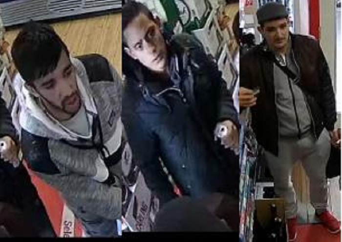 The three men police want to speak to over a theft on Worth Way