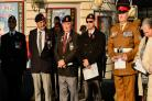 Veterans attend the event at the Bradford Cenotaph
