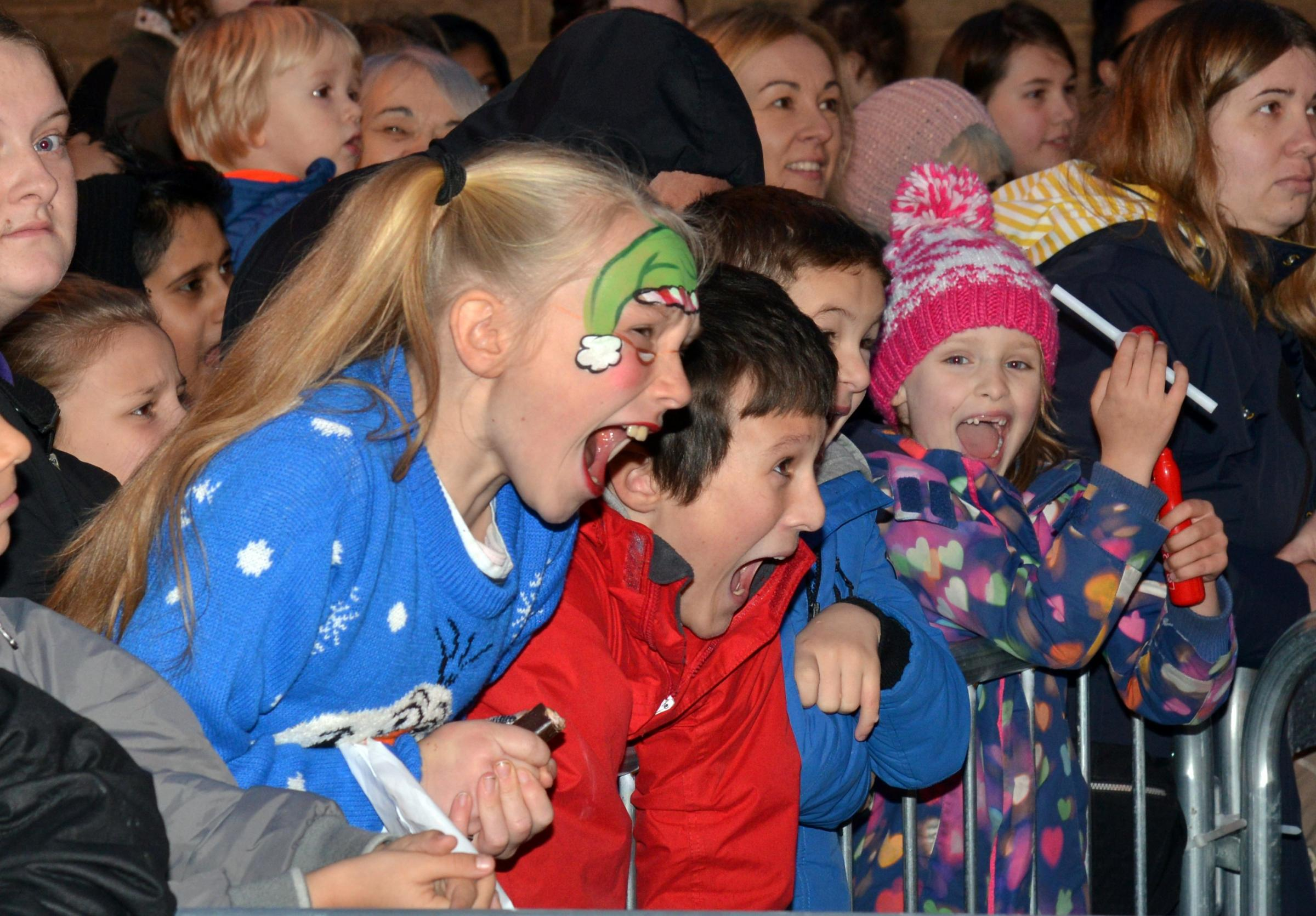 Last year's lights switch-on in Keighley