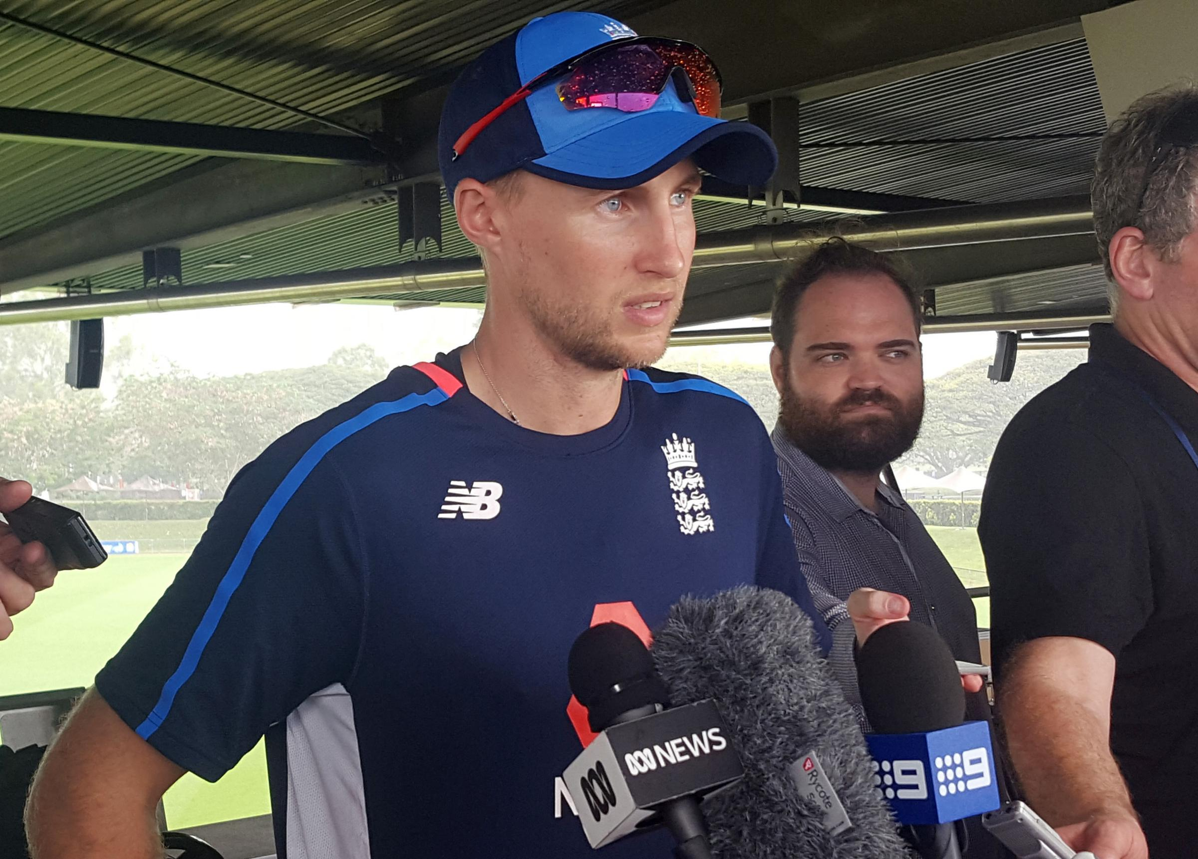 England captain Joe Root speaks to reporters ahead of this week's Ashes warm-up match against Cricket Australia XI in Townsville – Picture: David Clough/PA Wire