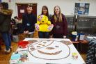 A Penny for Pudsey, where staff and students donate 1p & 2p coins to collect an image of Pudsey's face.