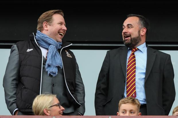 Bradford Telegraph and Argus: DOUBLE ACT: Owners Stefan Rupp and Edin Rahic have bought into City emotionally as well as financially