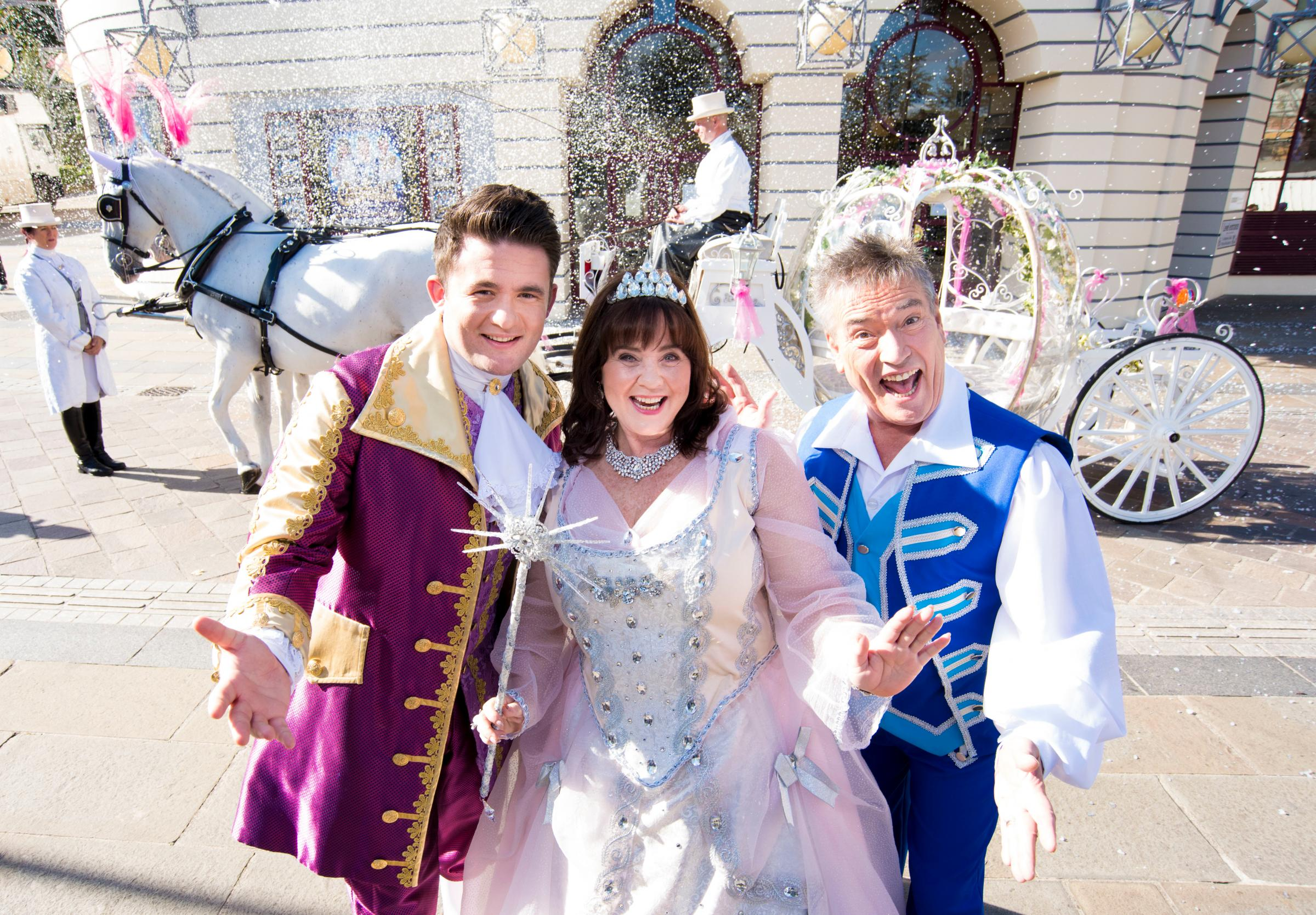 Coleen Nolan with her son, singer Shane Nolan (left) and Billy Pearce (right)