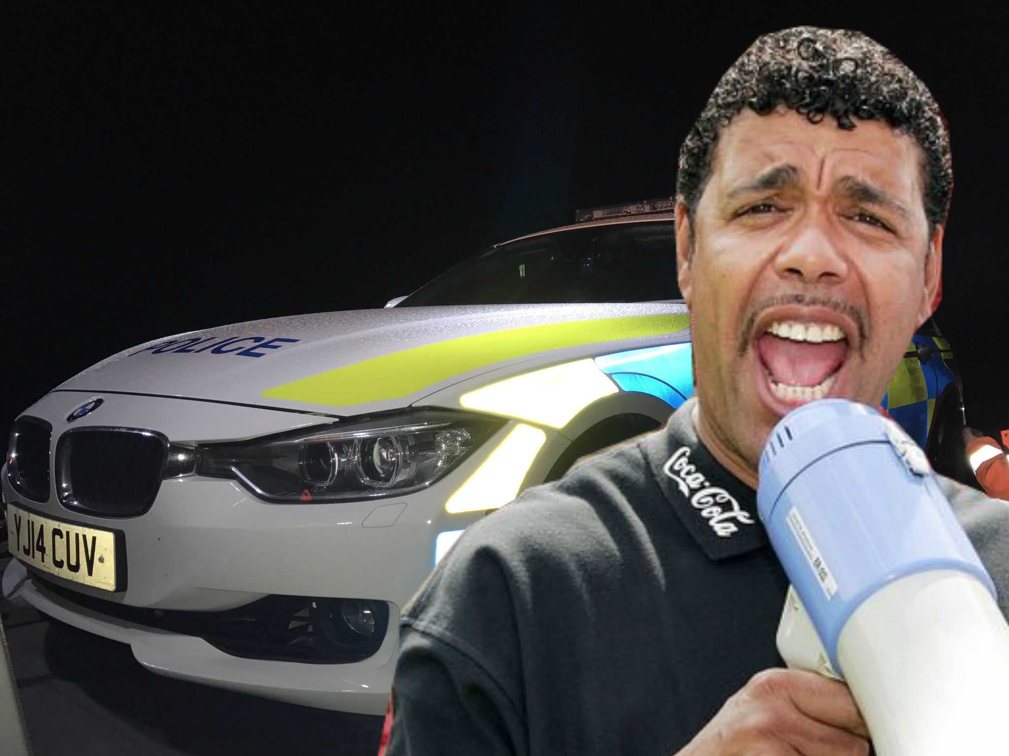 Chris Kamara gave a shout-out to the police