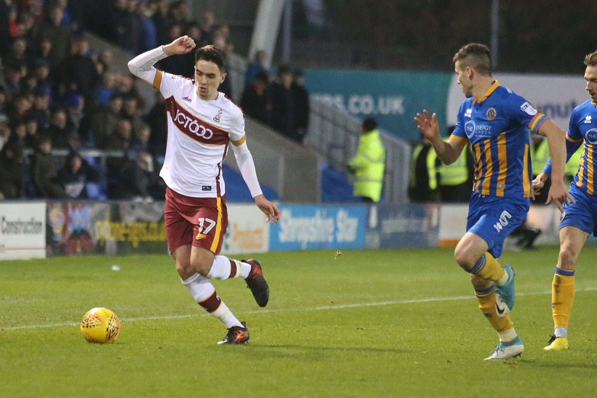 REGULAR ROLE: Alex Gilliead is making his mark with City and set up the winning goal at Shrewsbury