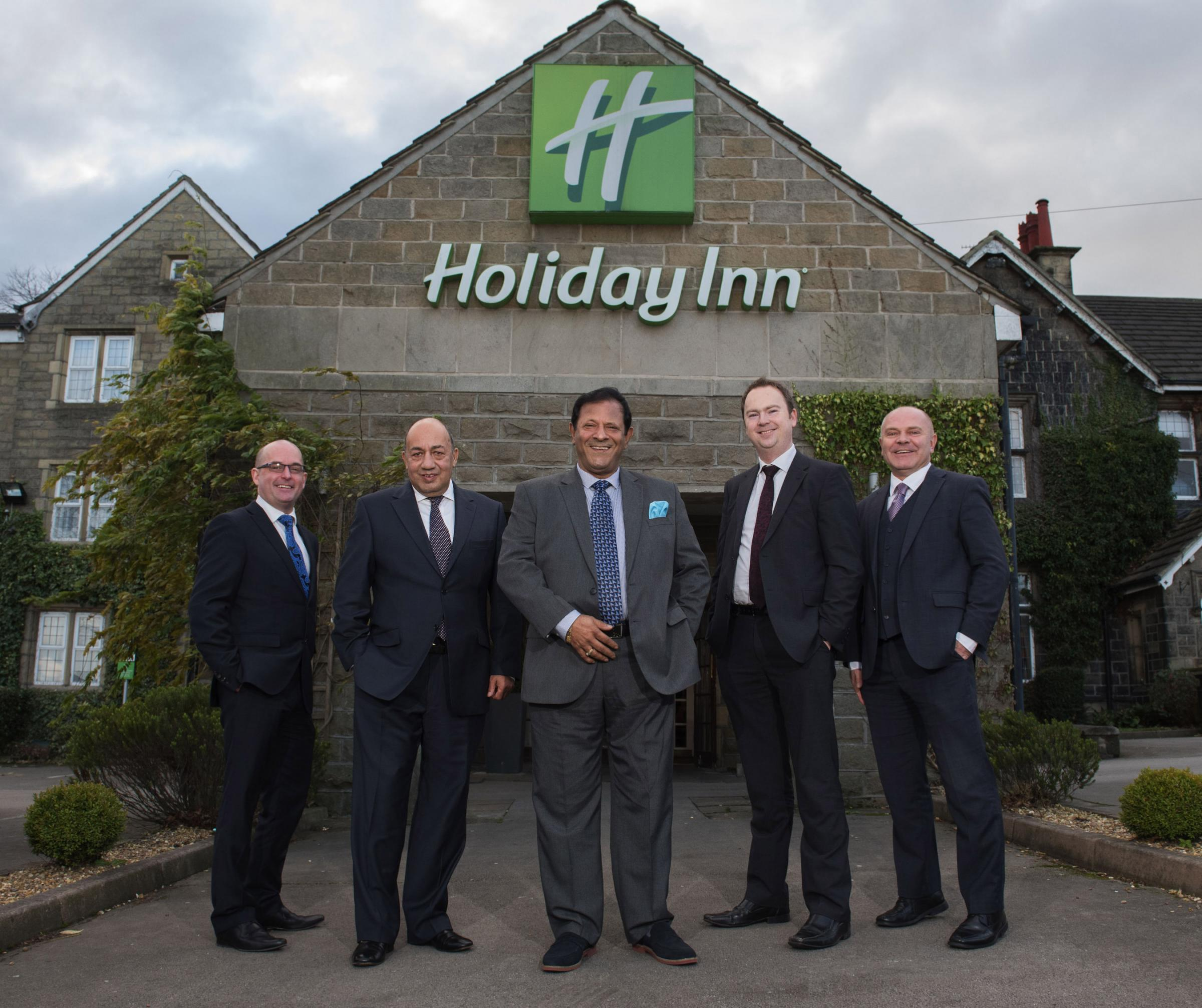 Pictured left to right: Steve Sisson, Allied Irish Bank (GB); Shiban Khashu, Operations Director Holiday Inn Leeds Bradford; Anish Bir; Stewart Coles, Sydney Mitchell; Mark Duggan, Allied Irish Bank (GB)