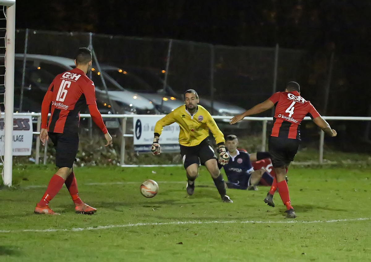 Lee Bradshaw scores Campion's sixth and last goal in their romp Picture: Alex Daniel Photography