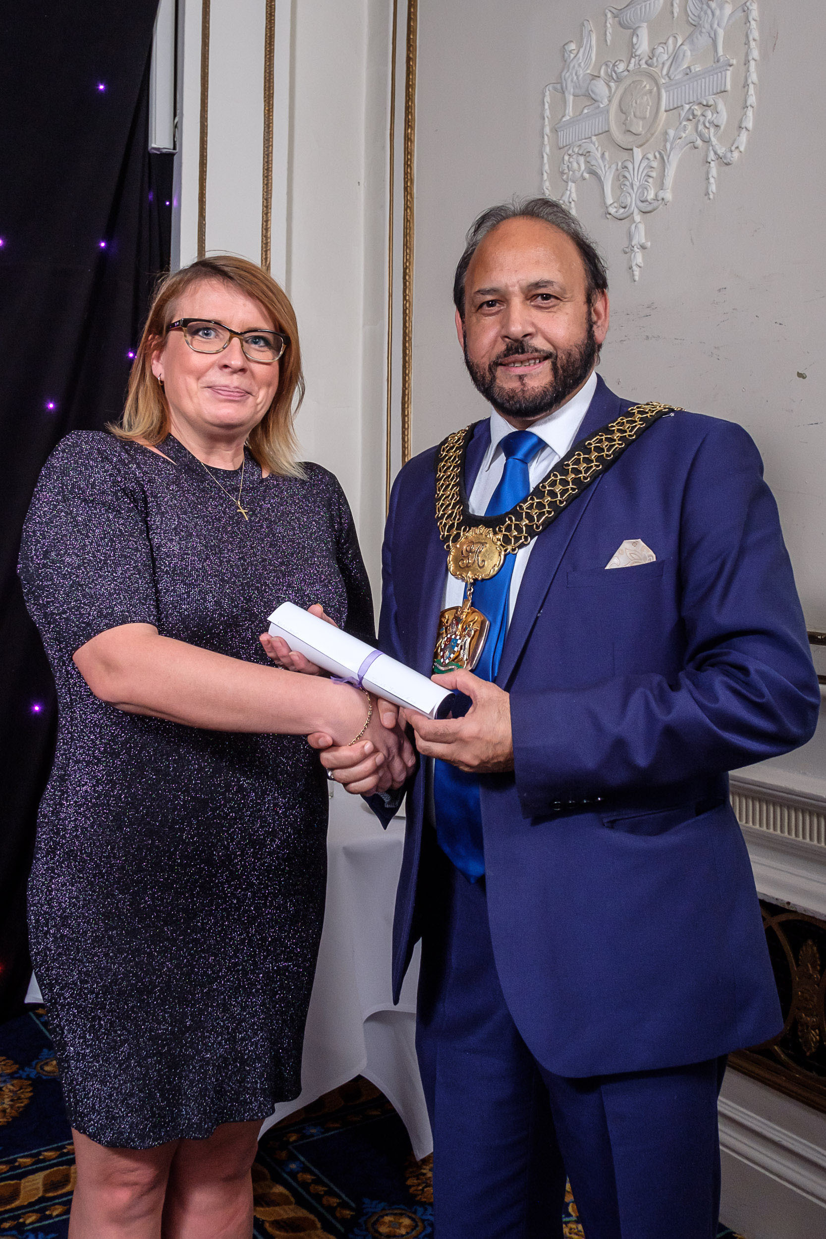 Volunteer category award runner up with the Lord Mayor at the 2017 T&A Community Stars Awards