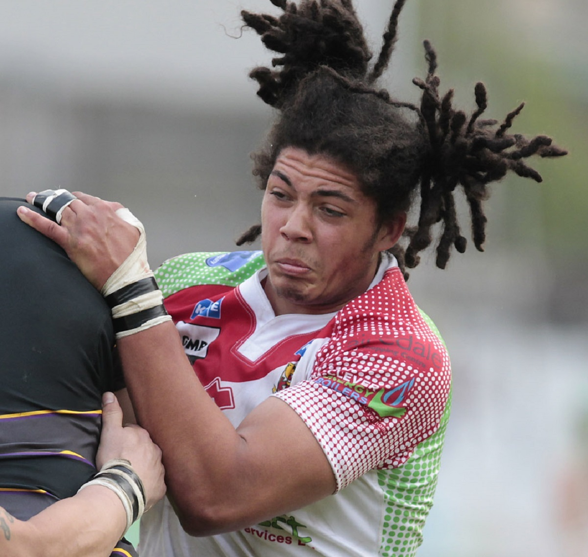 Jamel Goodall, pictured during his spell at Keighley, has signed a one-year deal to play for the Bulls