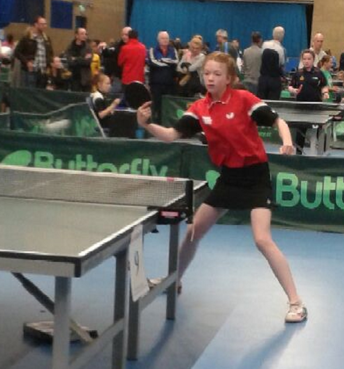 Beckfoot Table Tennis Club's Isabella Crooks, who is playing for Yorkshire under-15 girls this weekend