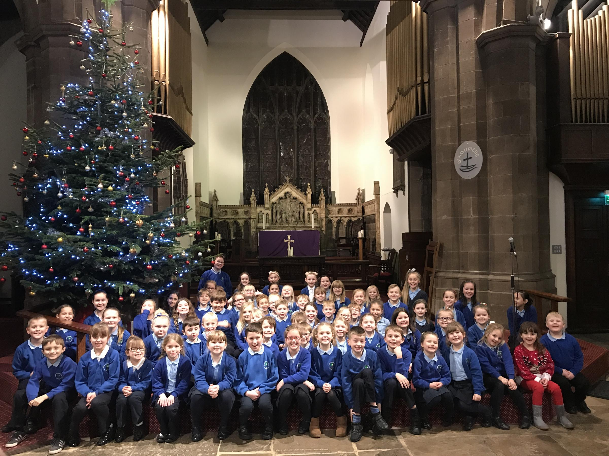 Nessfield Primary School pupils at the concert