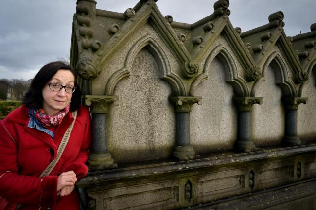 Irene Lofthouse at Undercliffe Cemetery. Picture: Andy Campbell-Manning