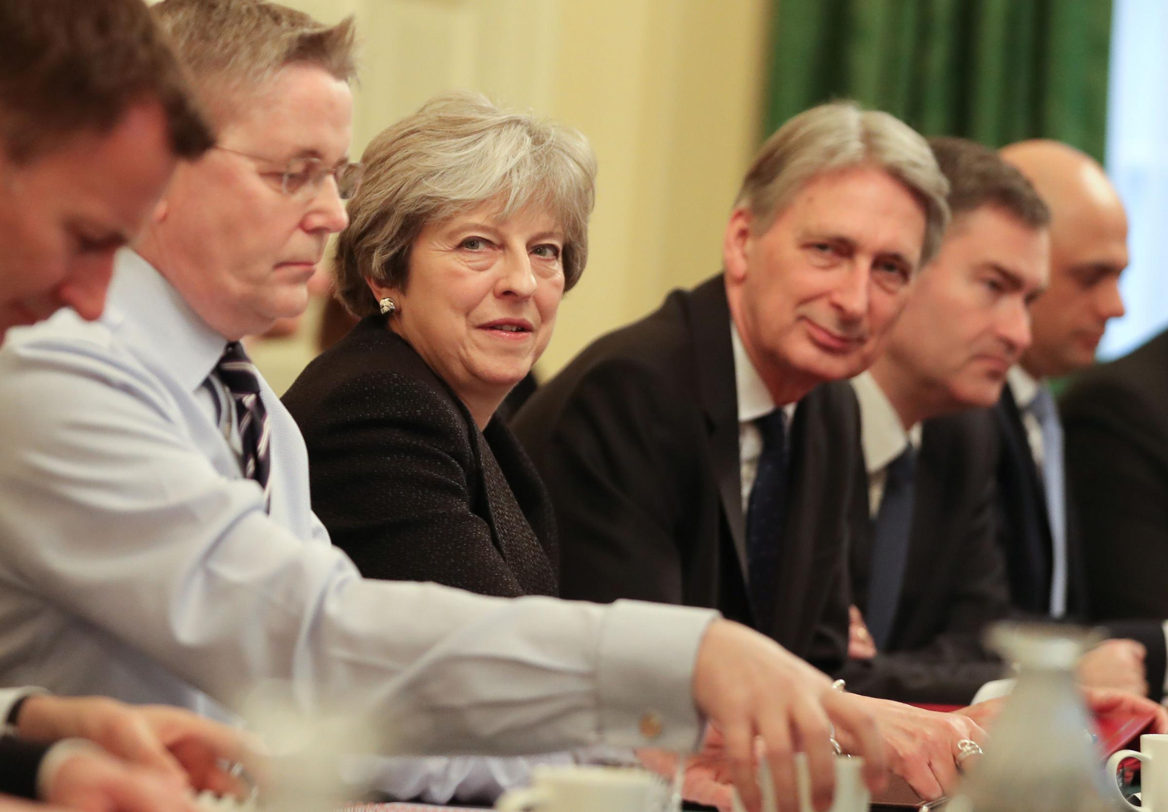 Prime Minister Theresa May leads her first cabinet meeting of the new year  at 10 Downing street in central London. PRESS ASSOCIATION Photo. Picture date: Tuesday January 9, 2018. See PA story POLITICS Reshuffle. Photo credit should read: Daniel Leal-Oliv