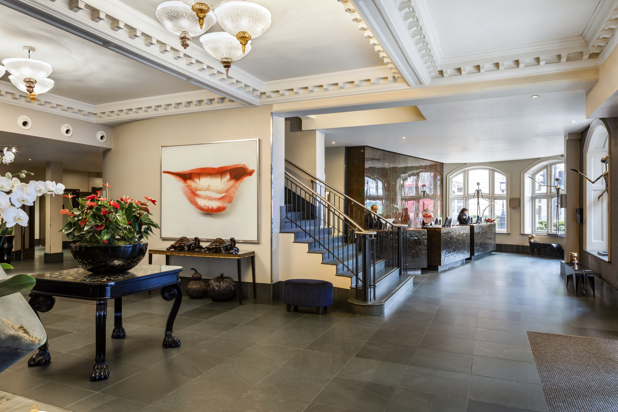 The stylish lobby of the Bloomsbury Street Hotel. Pictures: Edwardian Hotels London