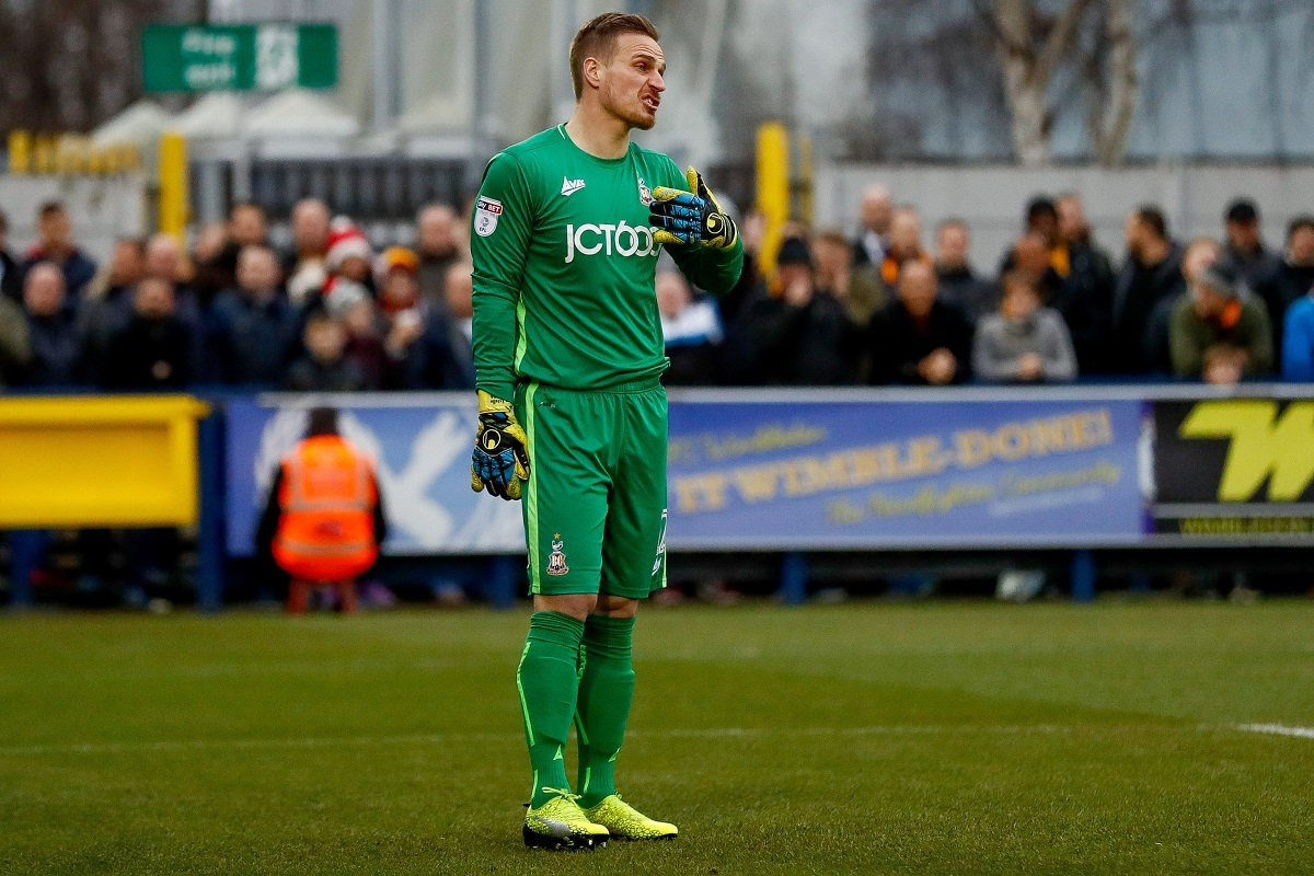 NET GAIN: Rouven Sattelmaier returns in goal after missing Yeovil with a sore back. Pic: Simon Davies