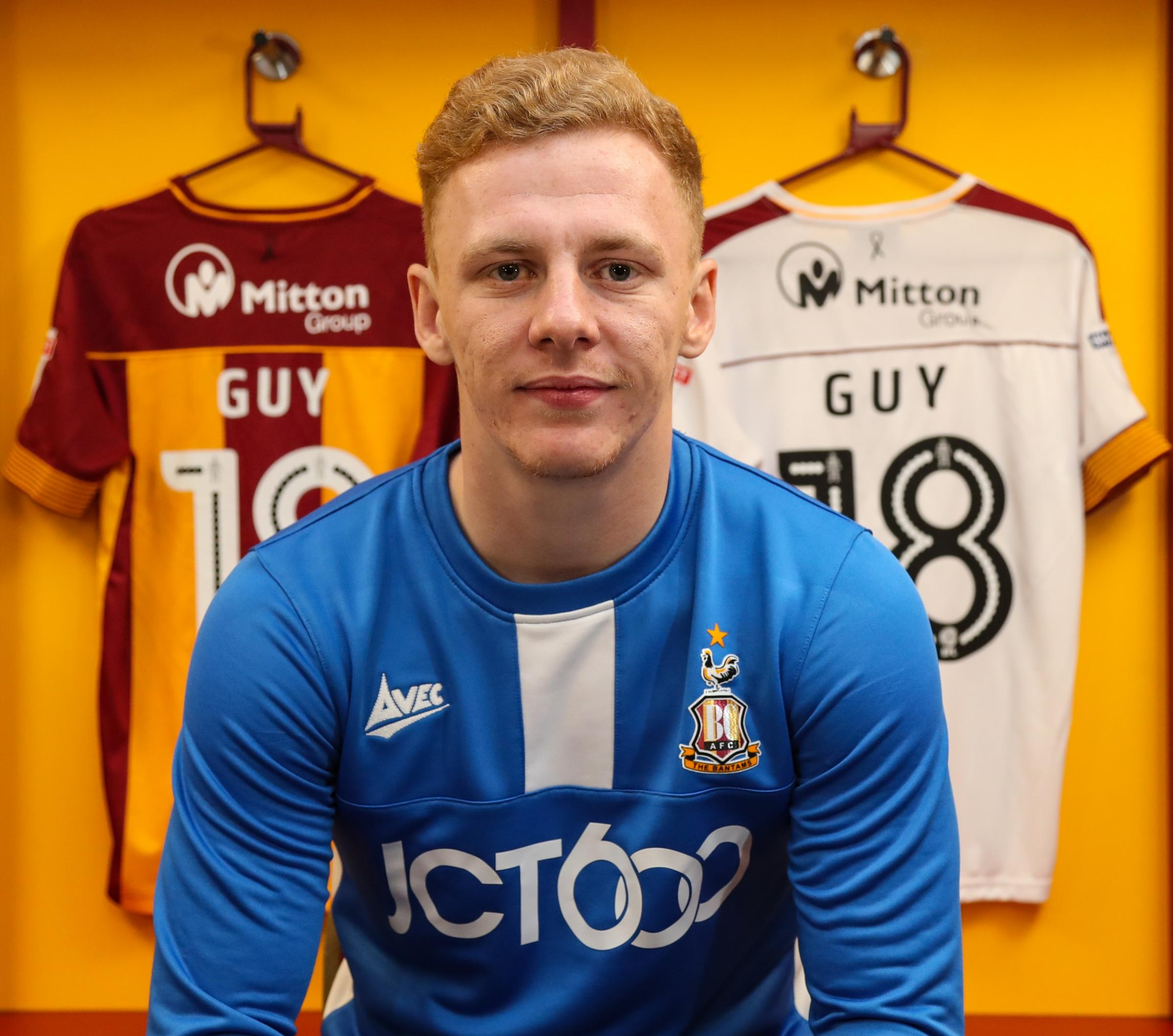 Callum Guy jumped at the chance of joining City on loan from Derby     Picture: Thomas Gadd