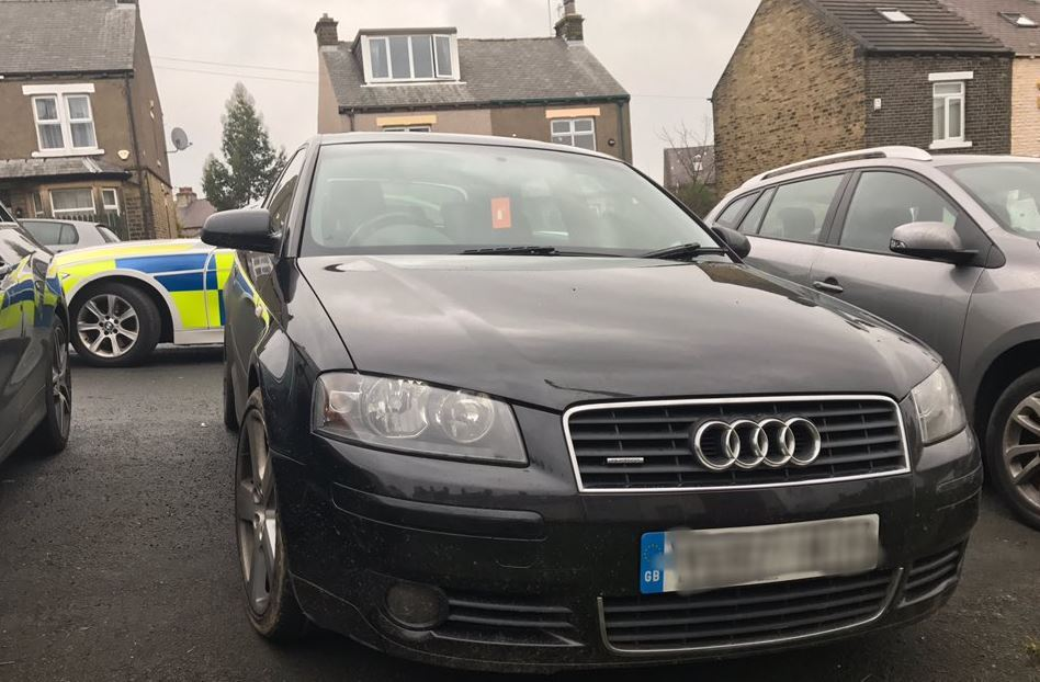 A stolen car was recovered on Intake Road, Fagley. Picture: West Yorkshire Police's Road Policing Unit