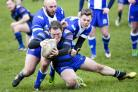It's try time for Queensbury against Birkenshaw – Picture: Chris Hyslop