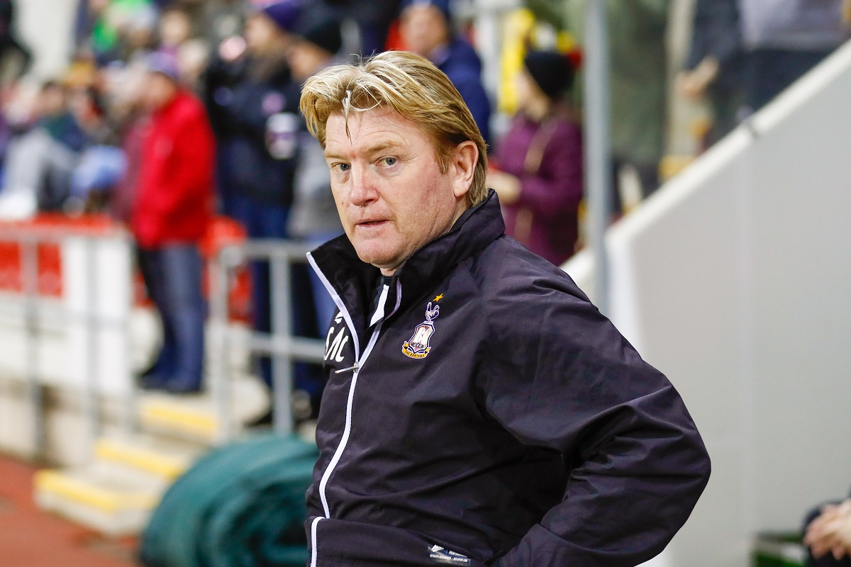 Stuart McCall during City's 2-0 loss at Rotherham last night. Pic: Simon Davies