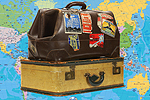 Bradford Telegraph and Argus: Suitcases with Map