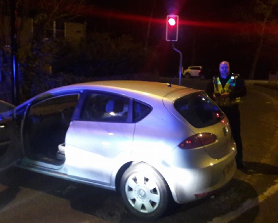The car abandoned in Guiseley