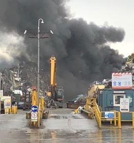 Reports Of Big Bang As Blaze Breaks Out At Scrap Metal Firm