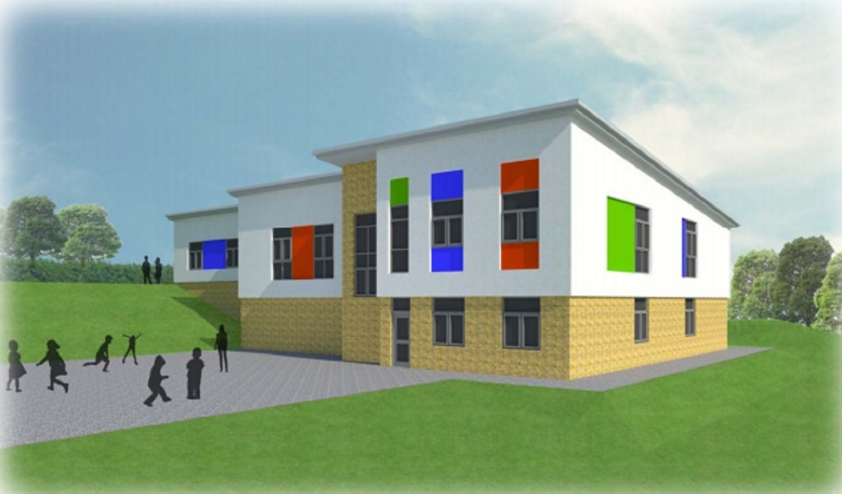An artist's impression of the extension planning for Poplars Farm Primary School