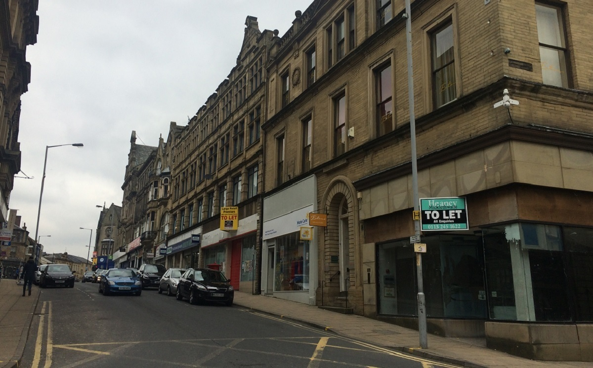 You don't have to walk far in Bradford city centre to find empty retail units