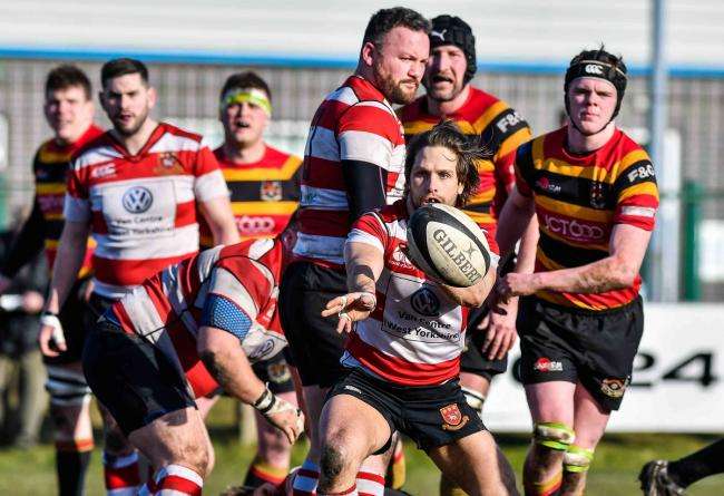 Cleckheaton scrum half Jack Bickerdike is set to miss their home match agsainst West Hartlepool if it has to be re-arranged Picture: Andy Garbutt