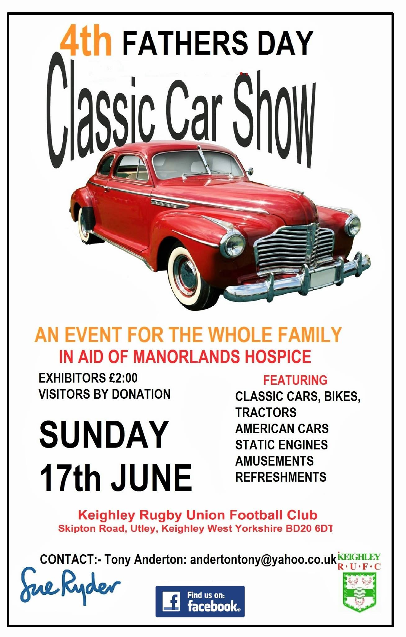 FATHERS DAY CLASSIC GATHERING in aid of SUE RYDER MANORLANDS