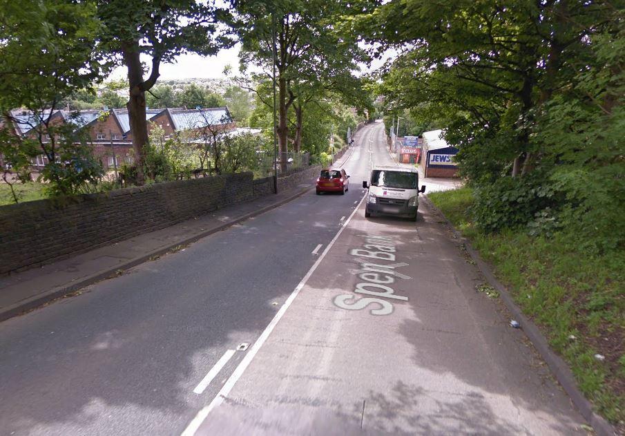 Spen Bank, near Spen Lane is closed due to a broken sewer pipe. Photo: Google Maps