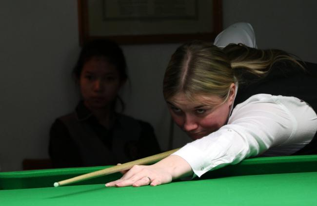 Keighley's Rebecca Kenna who reached the semi-finals of the Women's World Championships for a third successive year