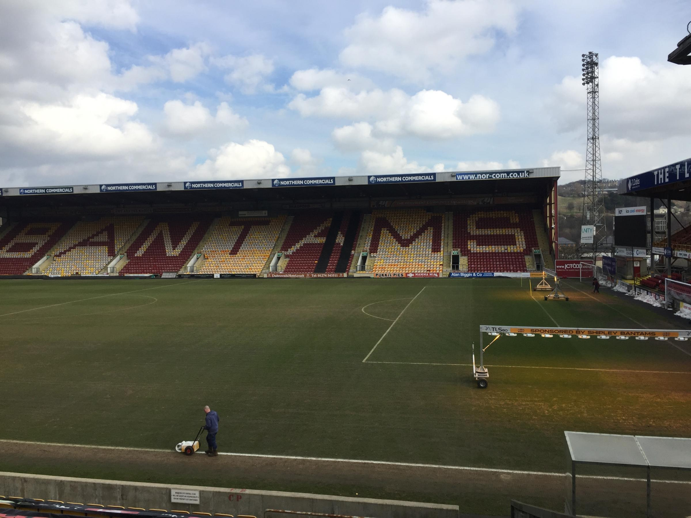 Valley Parade this afternoon. Pic: Bradford City