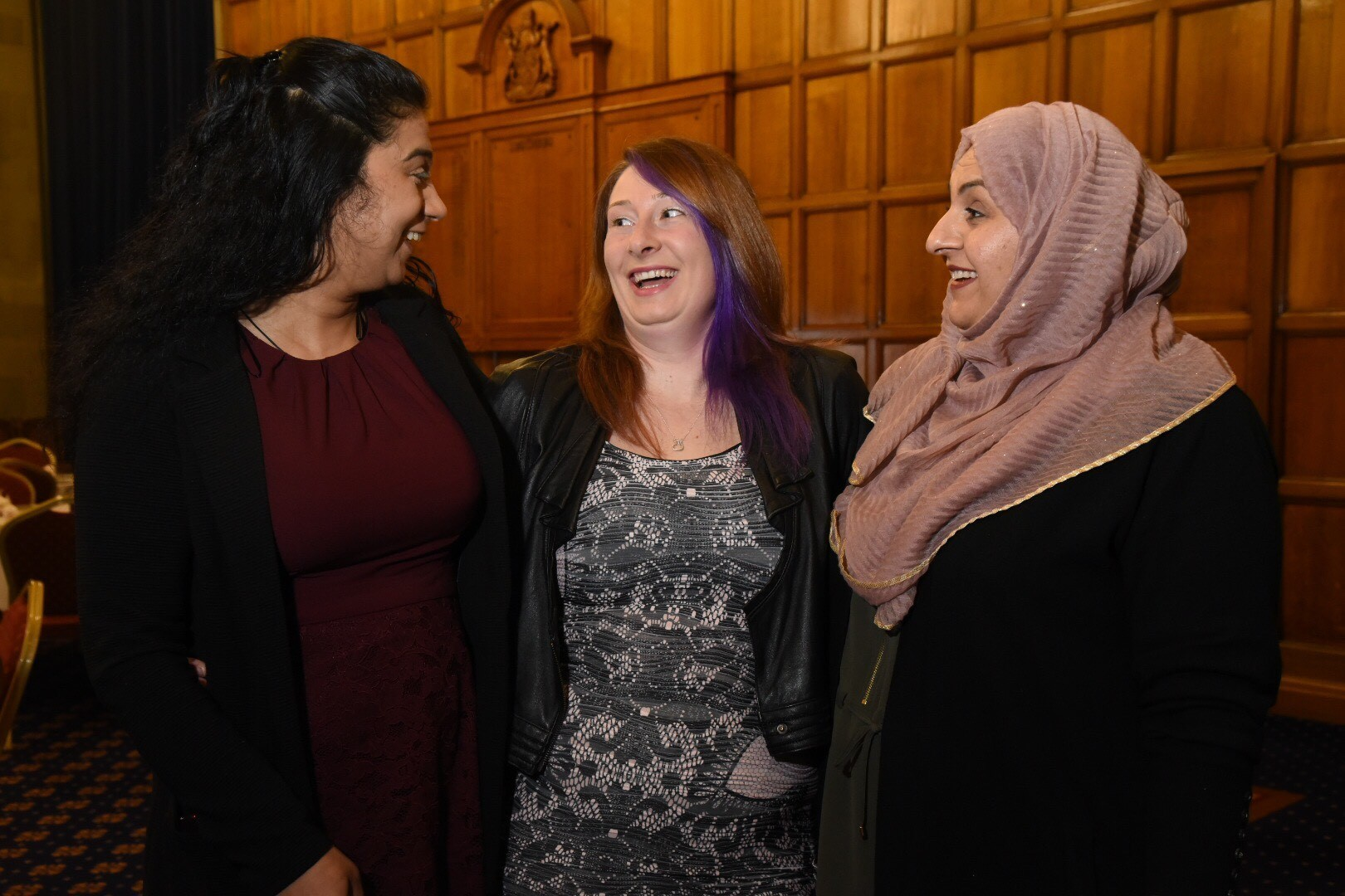 Yasmin Majid, Louise Horrell and Shabana Butt who joined the Mothers Against Radicaliasion scheme