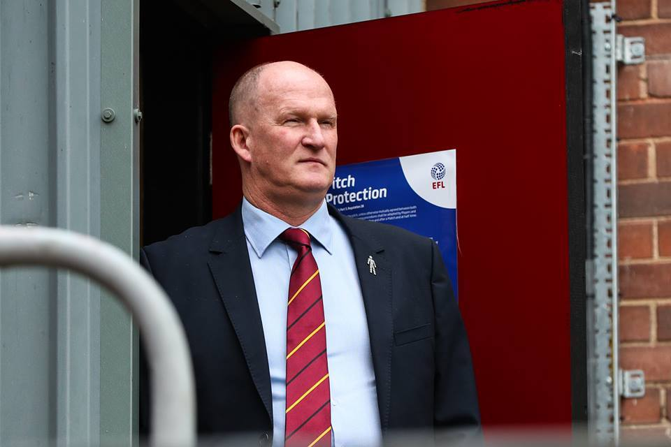WAITING GAME: Simon Grayson at Valley Parade on Saturday after another postponement – Picture: Thomas Gadd