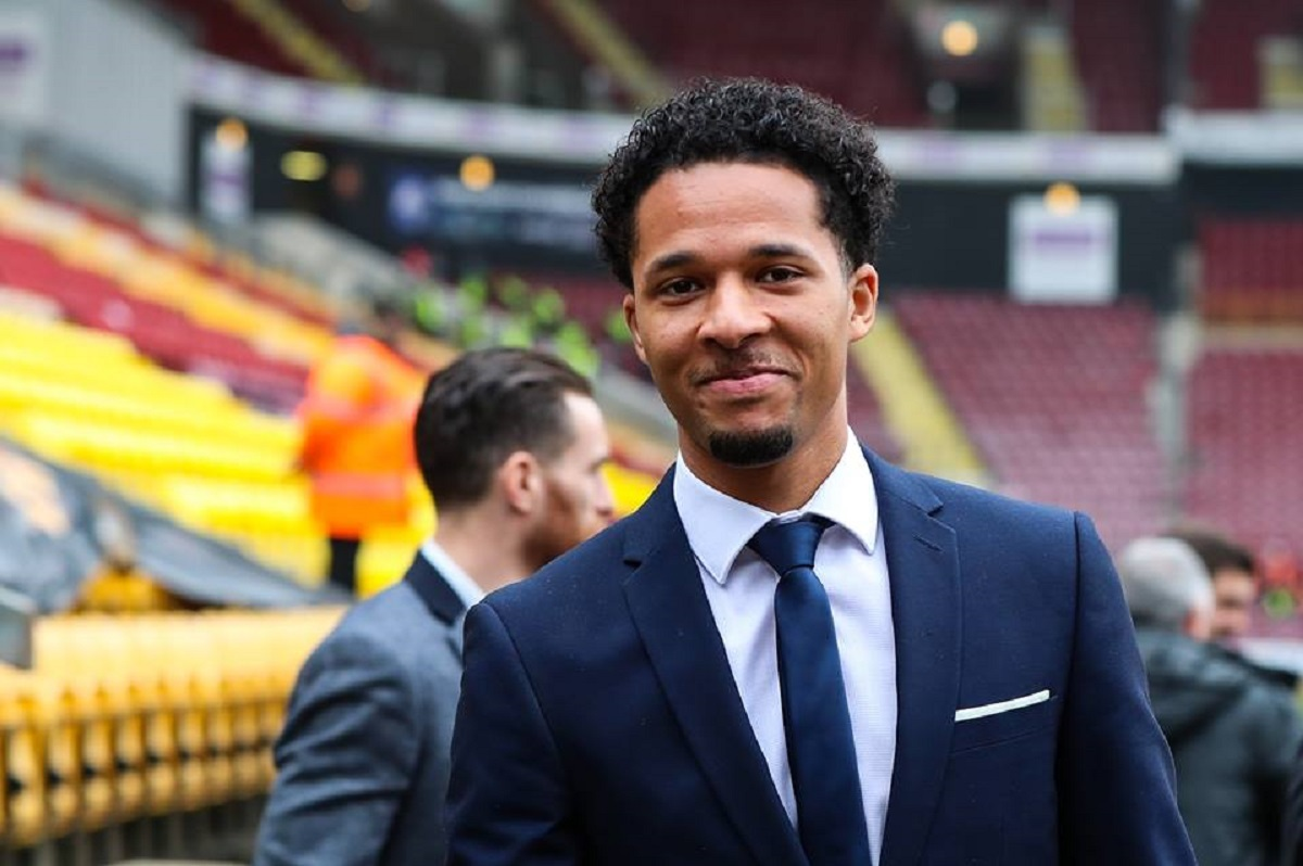 SUITS YOU: Timothee Dieng and Romain Vincelot look sharp at Valley Parade before Saturday's call-off – Picture: Thomas Gadd