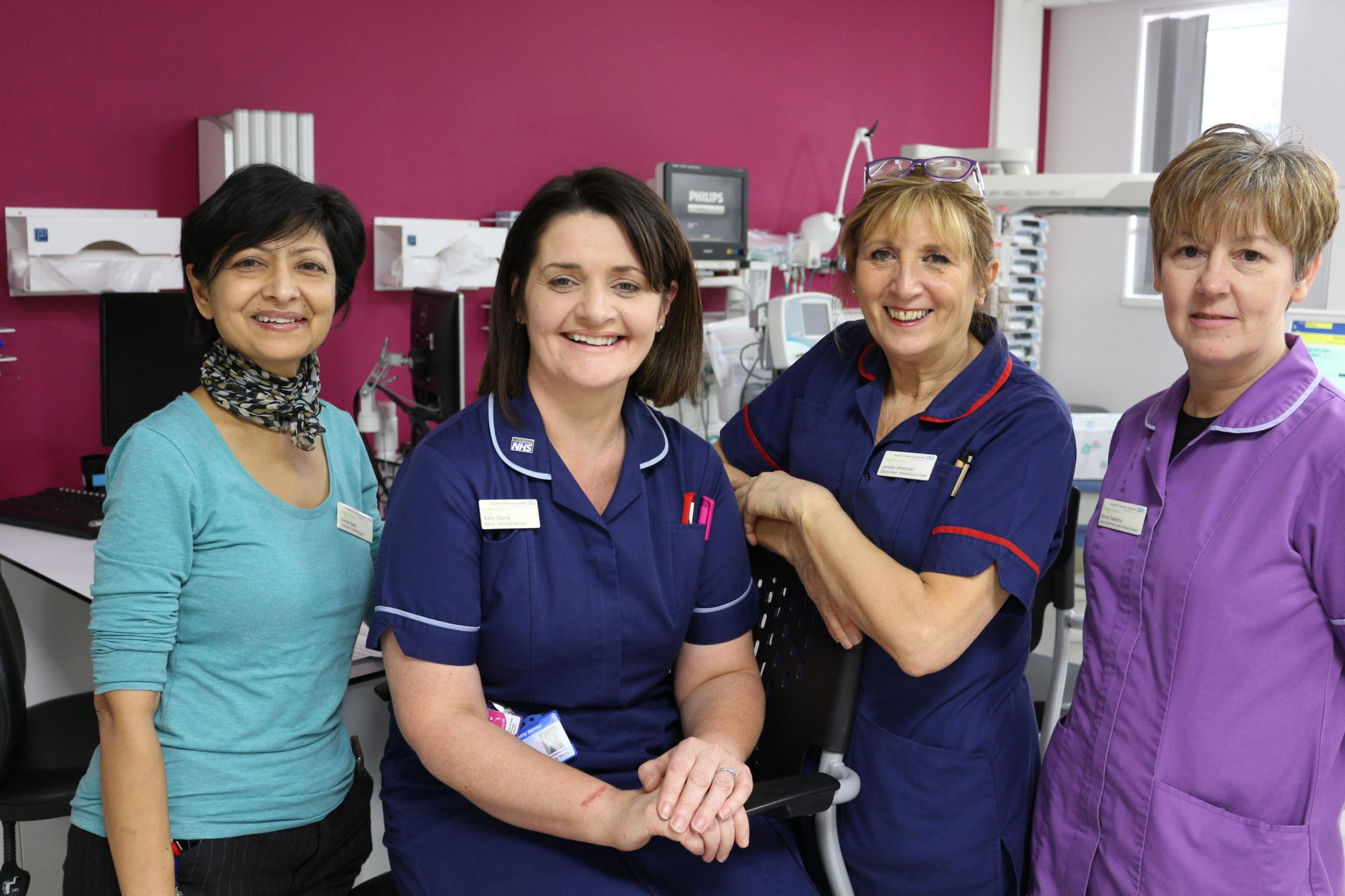 Some of the team at Bradford Royal Infirmary's Neonatal Intensive Care Unit