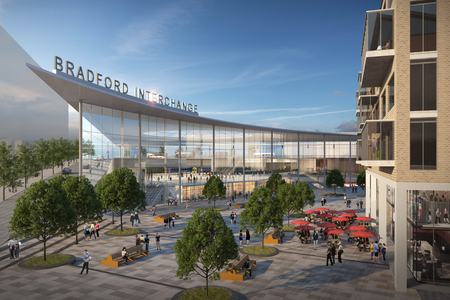 An image of how Bradford's Northern Powerhouse Rail station could look