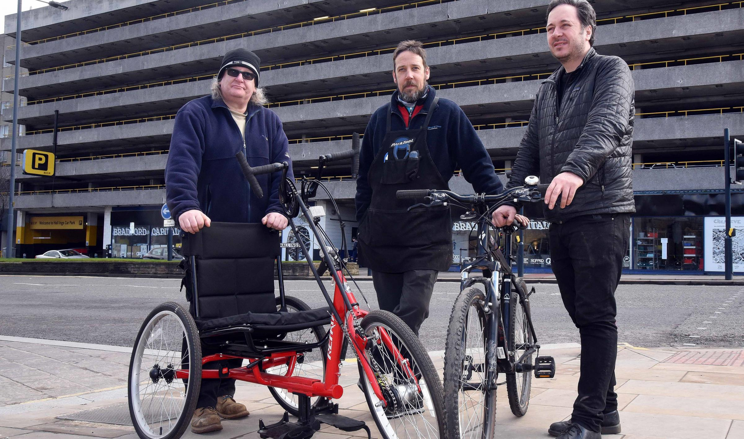 STAFF: Rob Slater ,Chris Widdop and Anthony Thomson from Capital of Cycling