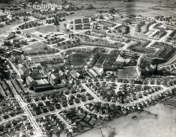 Allerton from the air in 1967