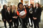 Maggie Alphonsi a retired England Rugby Union World Cup winner visited Hanson school to inspire young women to become more involved in sport.