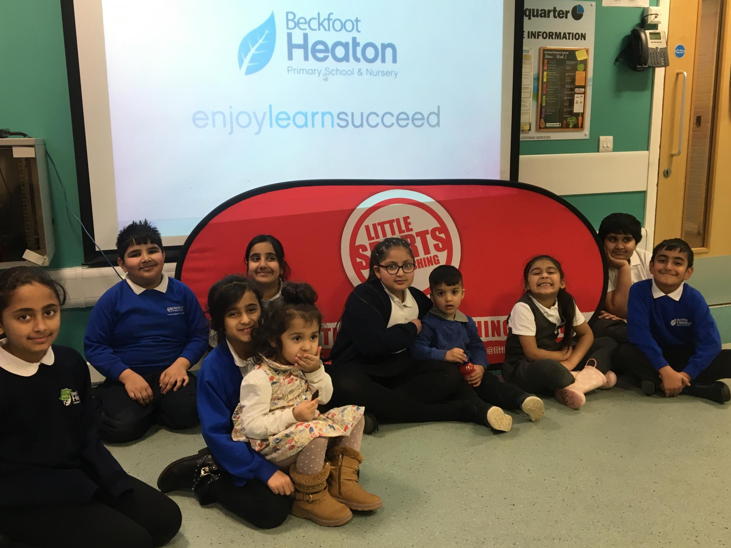 Children at Beckfoot Heaton Primary School, who took part in the 'ExerScience' programme